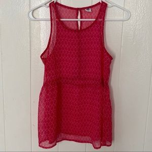 Old Navy Pink High Neck Tank Top